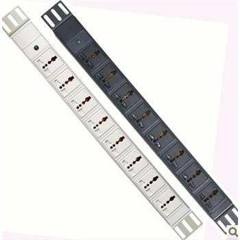 pdu机柜*电视墙办公室八联电源插座铝合金专业接线板