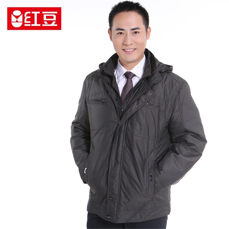 【红豆外套】红豆羽绒服2014新款魅力男士欧式保暖短