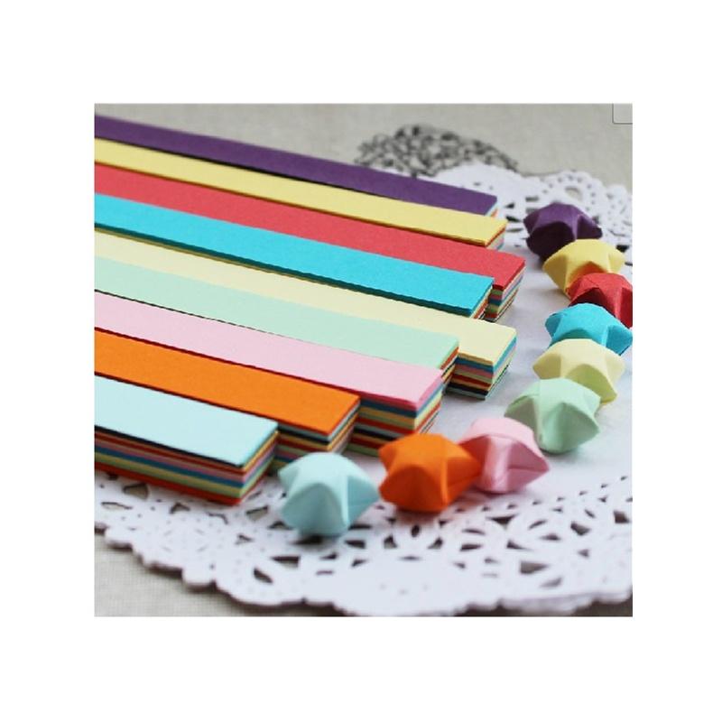 星星的纸条纯色纸手工diy折纸1cm左右宽500-600张/盒