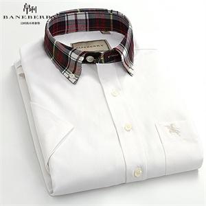 Baneberry 男装新款 短袖衬衫 商务撞色条纹莫代尔11009