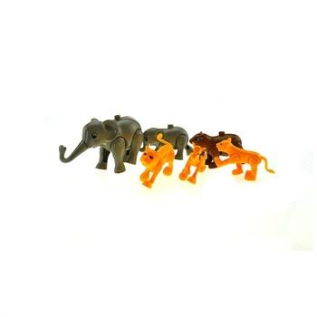 小白龙积高拼装积木动物园(圆角桶)儿童益智积木cg