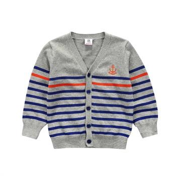 款男童线衫宝宝毛衣儿童开衫春季条纹毛线衣-外婆织给猪宝宝的毛衣图片