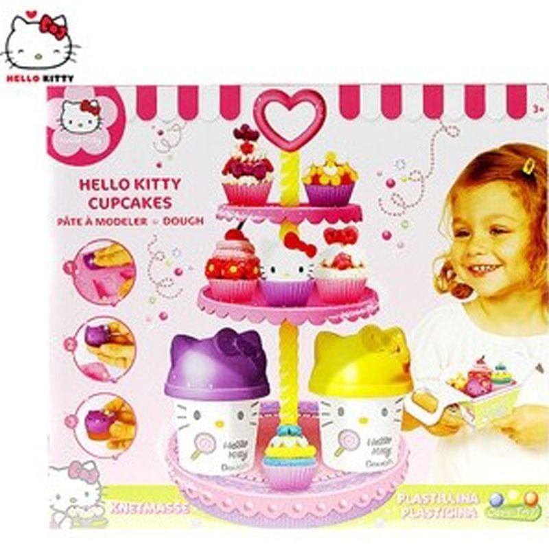 kitty凯蒂猫迷你蛋糕坊橡皮泥可爱彩泥套装趣味玩具