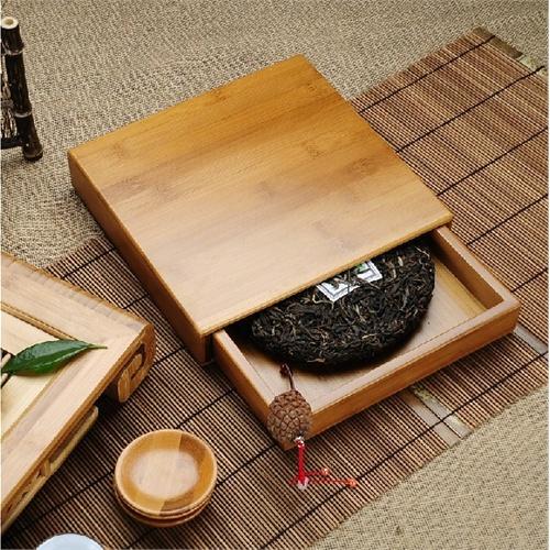 hz宏中精品竹制 普洱茶*盒子 茶叶罐 包装盒茶盘抽屉式竹盒