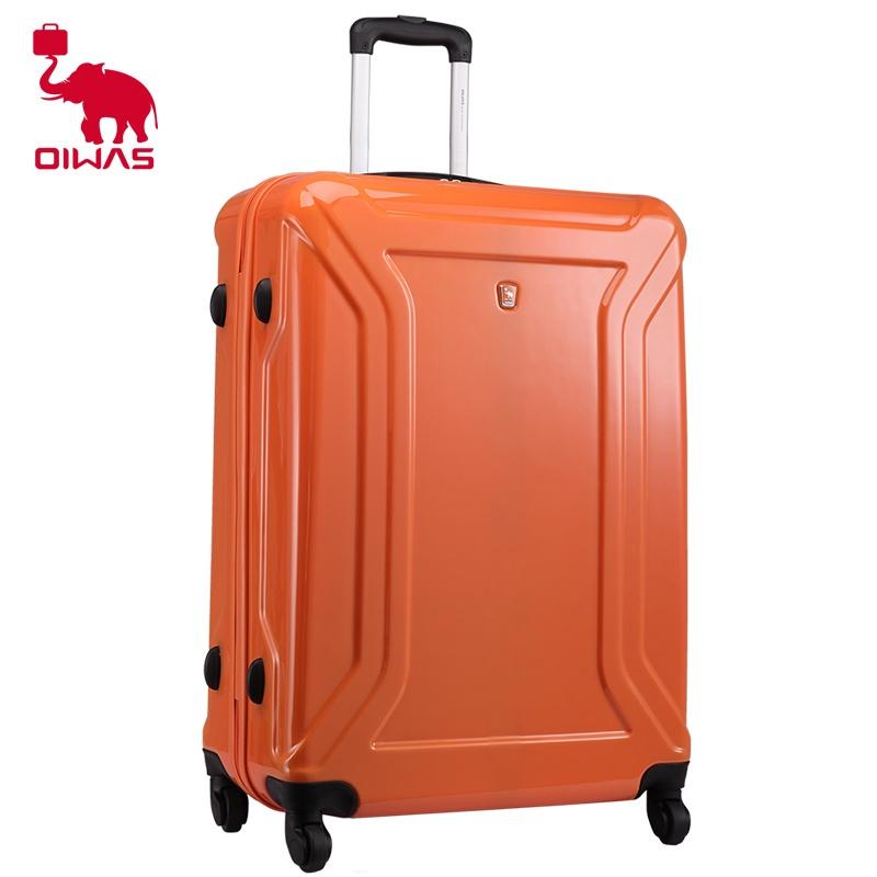 爱华仕拉杆箱万向轮旅行箱20寸行李箱 24寸28寸男女登机箱包_橙色,20