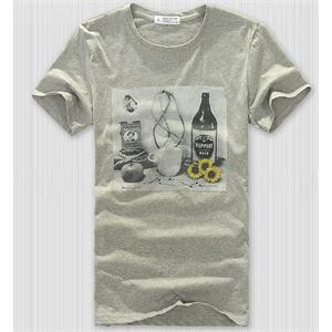 BL 素描图案 圆领 短袖 男士休闲T恤