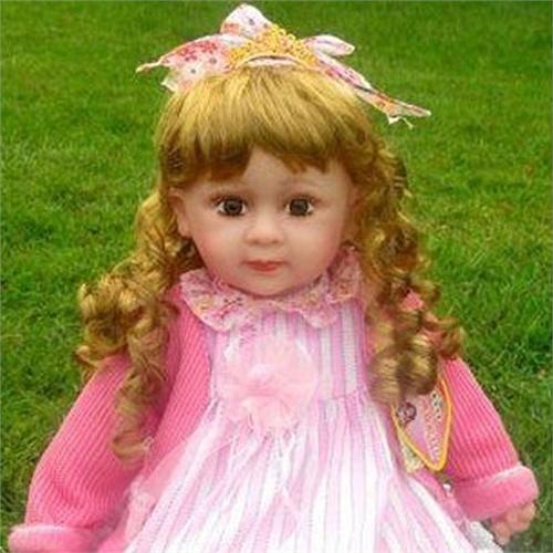 新款22寸安娜娃娃积木智公主说话的娃娃女孩玩具洋娃娃布娃娃森宝娃娃狼牙特种部队图片