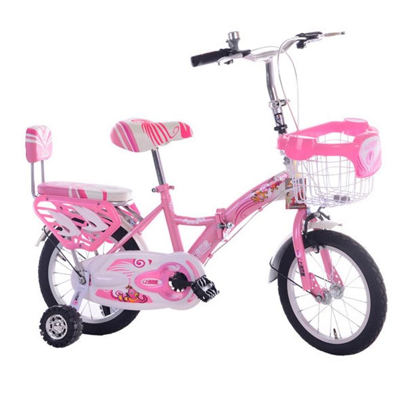 凤凰花仙子男女款儿童折叠自行车12_粉白