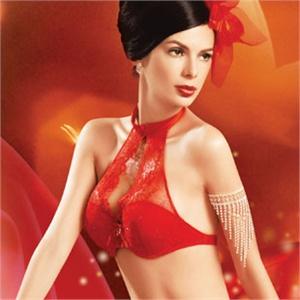 香港体会婚纱内衣 婚庆新娘内衣浪漫情怀红色胸罩模杯文胸 BE0031