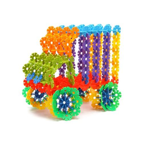 橙爱 雪花片桶装 乐高式塑料积木 塑料拼插拼装玩具儿童益智玩具_4.