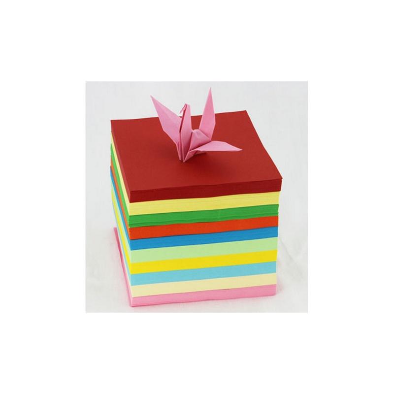 彩色卡纸 diy折纸 儿童手工纸 叠纸 千纸鹤折纸 13cm*13cm 1000张 此