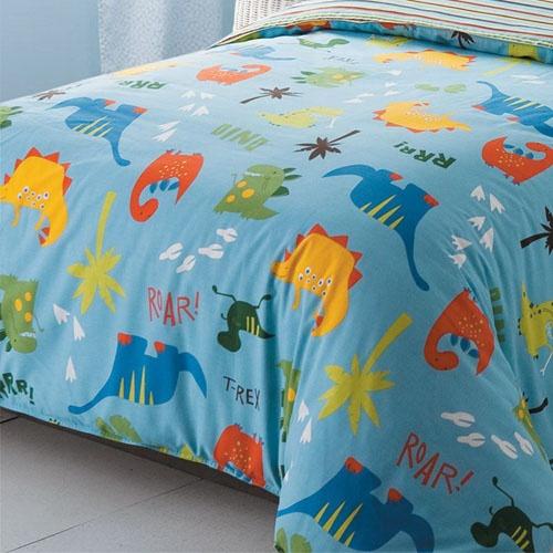[当当自营]宝贝世家 儿童床品双人床单四件套 恐龙乐园