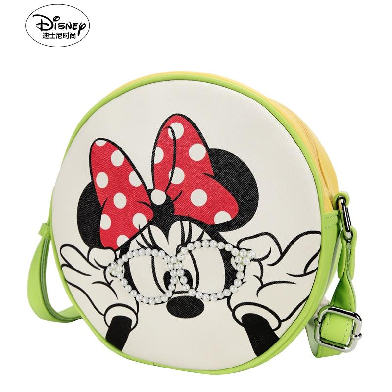 迪士尼米奇专柜正品2014新款 清新糖果色圆形斜挎女包uf2398-06_绿色