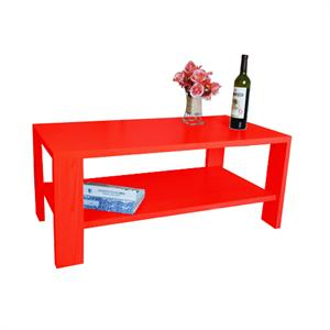 美好家长方形客厅茶几宽100cm(红色)