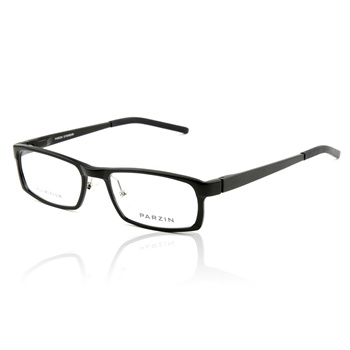 帕森 新款商务款航空铝镁合金镜架 正品近视眼镜框 可配近视 _磨砂黑