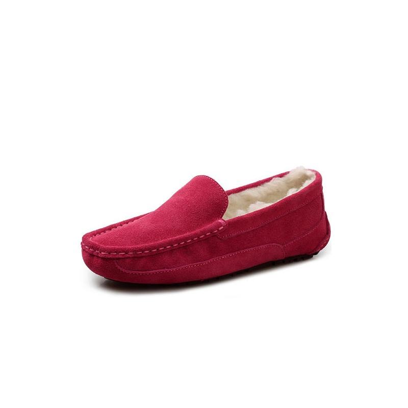 ugg豆豆鞋红色搭配图片