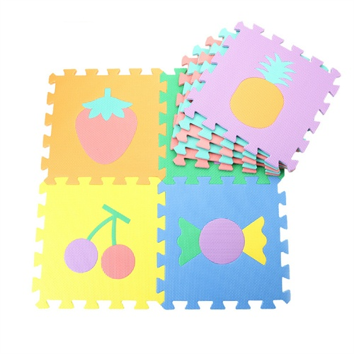 地垫儿童地垫拼图数字水果交通动物拼图30*30*1㎝