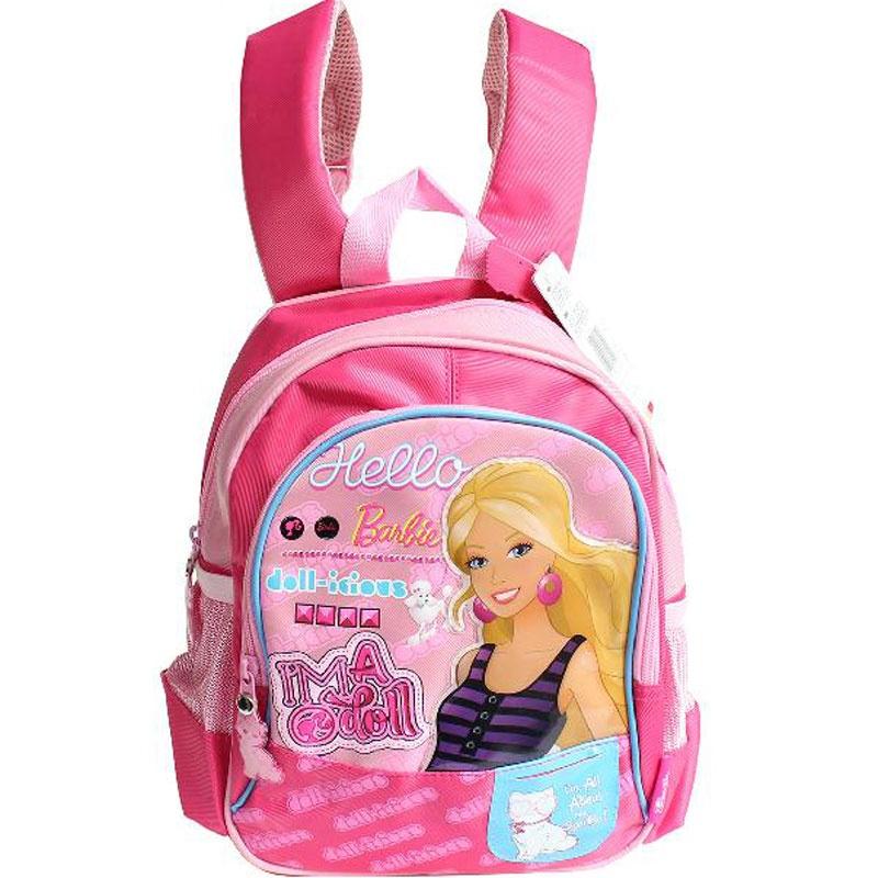 芭比娃娃幼儿学前班双肩可爱小背包女童书包bbsg1219 玫红