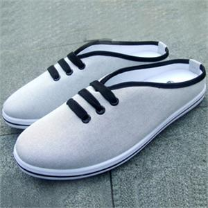 鞋帆布半拖鞋英伦男式韩版