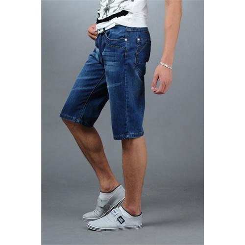 夏季男式五分牛仔短裤