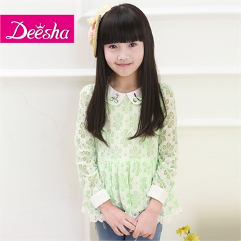 【笛莎衬衫】deesha笛莎2014新款春装韩版女儿童公主