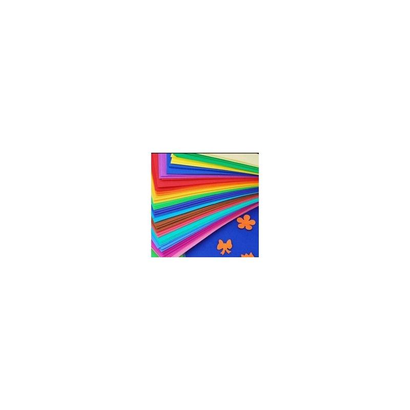 16开彩色海绵纸 橡塑纸 泡沫纸 手工立体贴画材料 10色/包