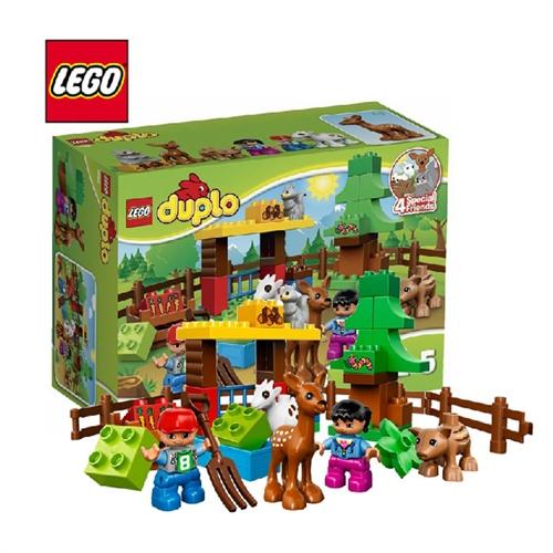 乐高之家lego得宝大颗粒duplo森林小动物正品幼儿积木