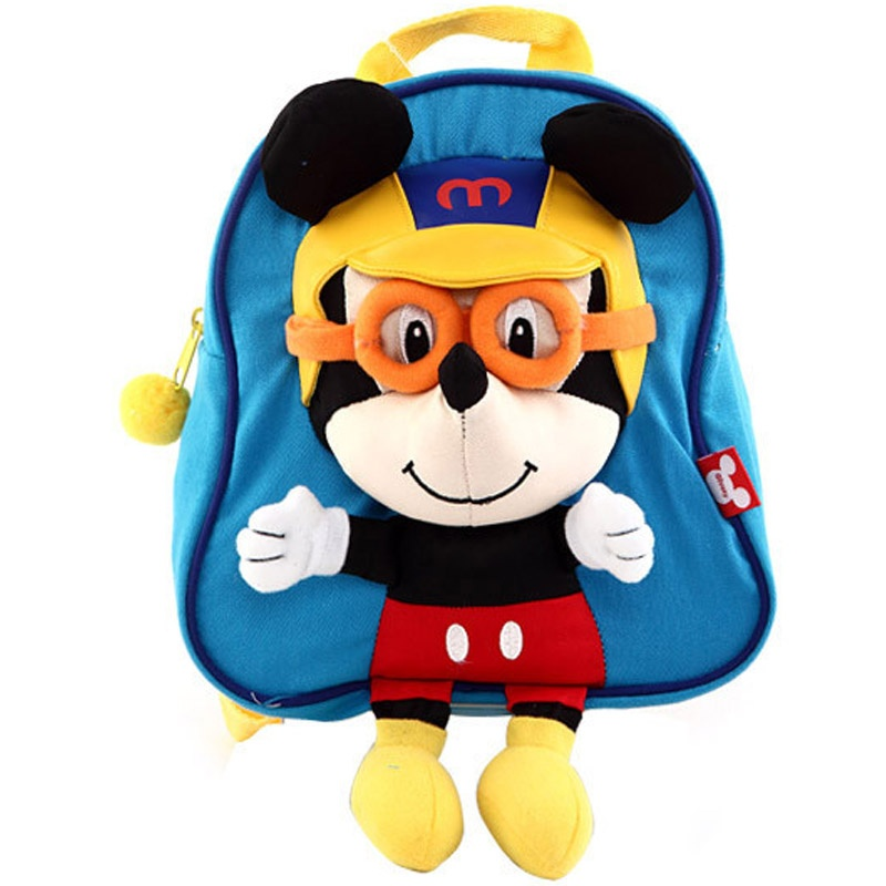 新款 迪士尼幼儿园米奇双肩包小背包sm20162 三色【直降】_蓝色戴眼镜