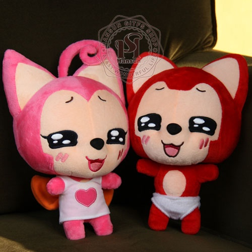 正版阿狸超可爱情侣抱抱狸阿狸毛绒公仔动漫卡通玩具