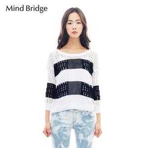Mind Bridge百家好夏新款女装韩版镂空两件套套头针织衫MMKT321C 韩版 女士 针织衫