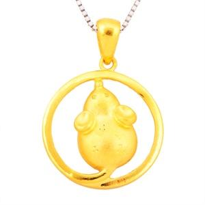 【御灵珠宝】千足金十二生肖系列吊坠 生肖鼠