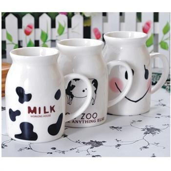 日照鑫 带盖陶瓷杯子牛奶杯情侣杯咖啡杯马克杯星巴克杯可爱创意水杯