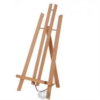 厂家榉木色油画架子木质画板广告展架3