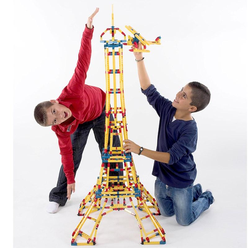 engino英吉诺埃菲尔铁塔儿童积木拼装塑料拼插玩具模