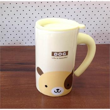 创意新年礼物 可爱动物头像zakka牛奶杯 儿童陶瓷水杯 早餐杯动物咖