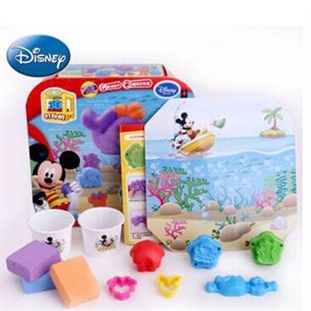 迪士尼3d打印泥海底世界 超轻粘土橡皮泥无味不干彩泥