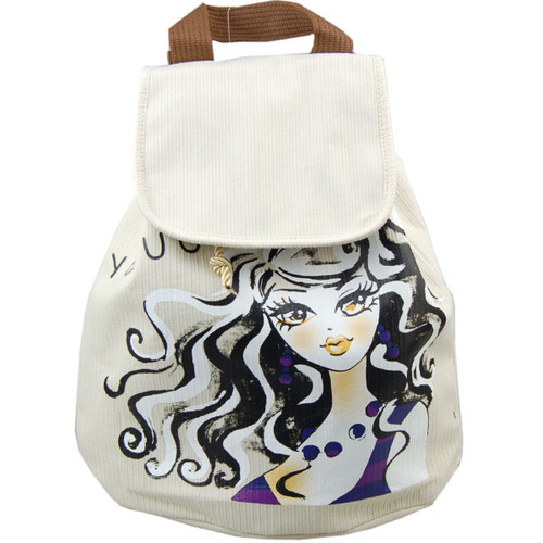 雨诺布艺瓷娃娃系列环保个性双肩包包图片