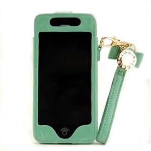 iphone5皮套 卡洛奇真皮 蝴蝶结金属扣 4s 5代苹果配件保