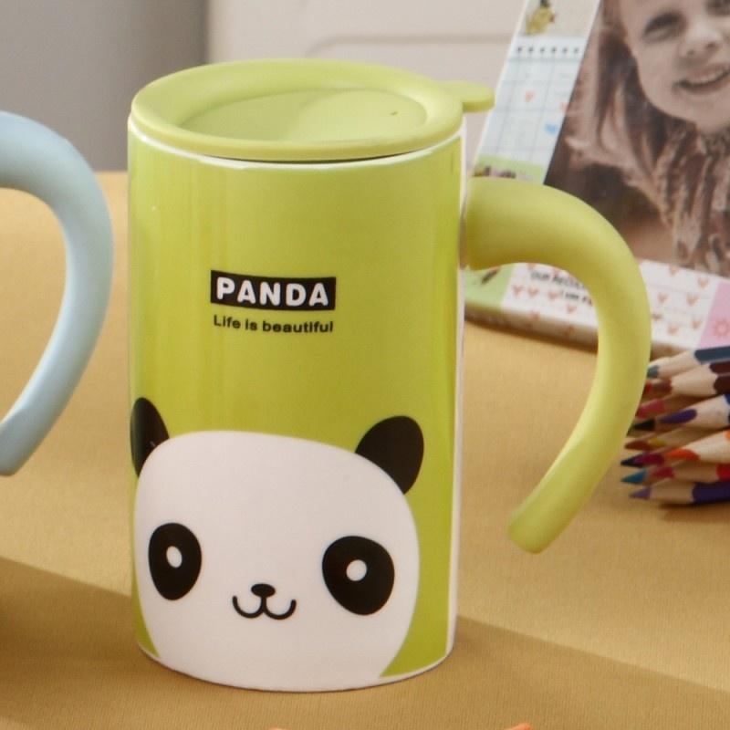 创意新年礼物 可爱动物头像zakka牛奶杯 儿童陶瓷水杯 早餐杯动物咖啡