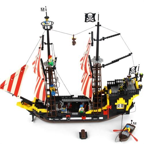 loz积木海盗船-loz 图纸大全-海盗船拼装步骤图片-loz
