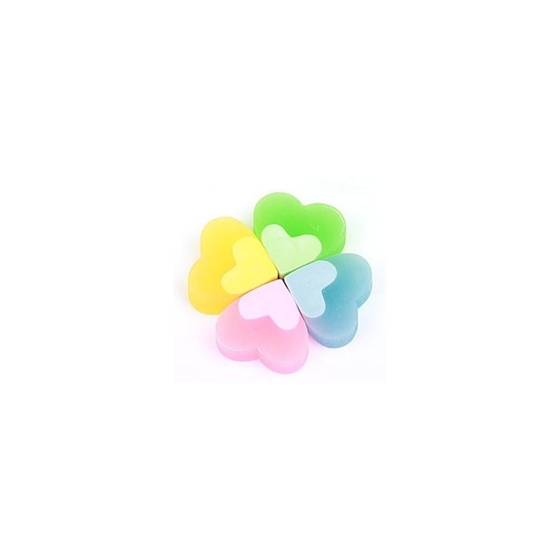 日照鑫 天卓9059橡皮擦 爱心儿童橡皮擦 韩版可爱卡通四叶草物语学生