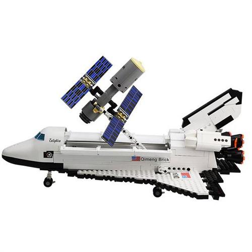 航天系列 启蒙益智拼装玩具 乐高式593块积木 514启蒙航天飞机
