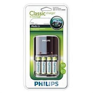 飞利浦 充电电池充电器套装 SCB1431NB94附带4节5号电池