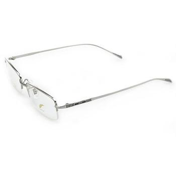 银色纯钛半框拉丝眼镜框