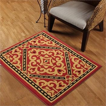 享家大达高档欧式防滑彩圈地毯地垫门口脚垫厨房地垫80*110㎝