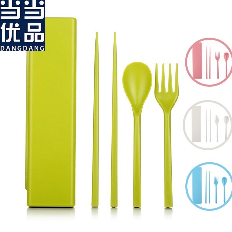 当当优品 简约环保便携食品级as餐具方盒套装(多色可选)
