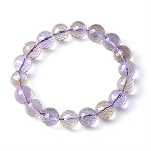【御灵珠宝】彩虹光芒 AAA级巴西进口天然紫黄晶刻面手链 12mm(±1)