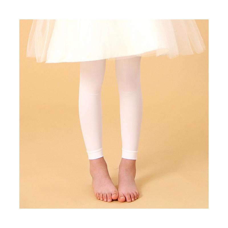 内慧 小女孩 春夏秋 芭蕾舞袜子 丝袜 天鹅绒白色儿童