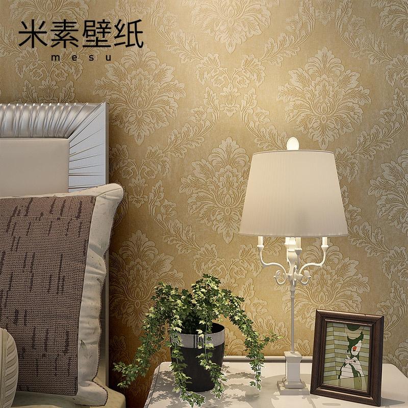 米素壁纸 欧式大马士革客厅卧室电视背景墙壁纸 米兰旋律