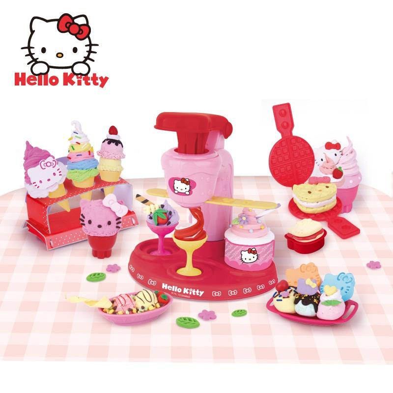 kitty扭扭雪糕机彩泥橡皮泥模具工具玩具套装